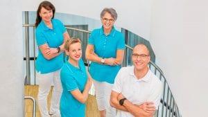 Teamfoto der Mitarbeiter der Ordination Dr. Gernot Mayer